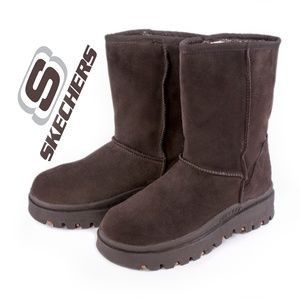 Skechers Outdoors Mid Calf Brown Suede Boots - EUC